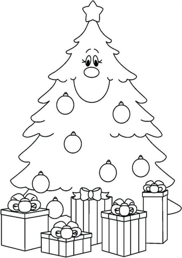 Free Easy To Print Christmas Tree Coloring Pages Tulamama