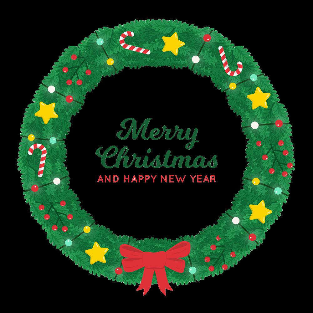 christmas wreath clipart