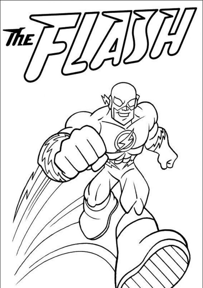 Fun Flash coloring pages for your little one. They are free and easy to print. The collection is varied with different skill levels