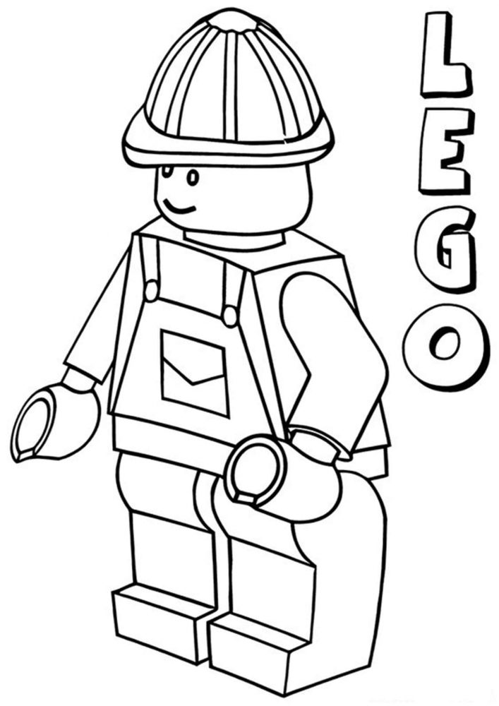 Free & Easy To Print Lego Coloring Pages - Tulamama