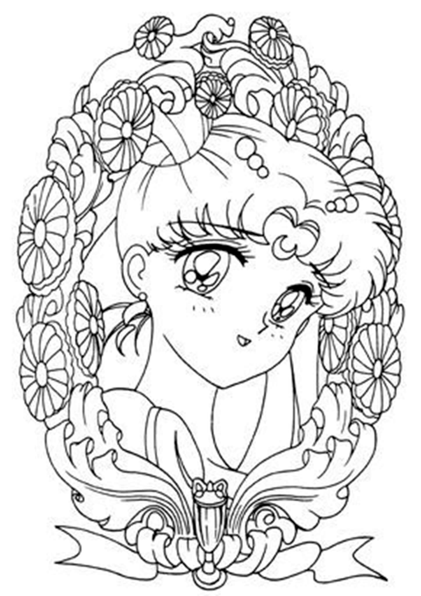 Free & Easy To Print Sailor Moon Coloring Pages - Tulamama