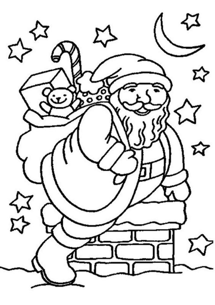 Fun Santa coloring pages for your little one. They are free and easy to print. The collection is varied with different skill levels