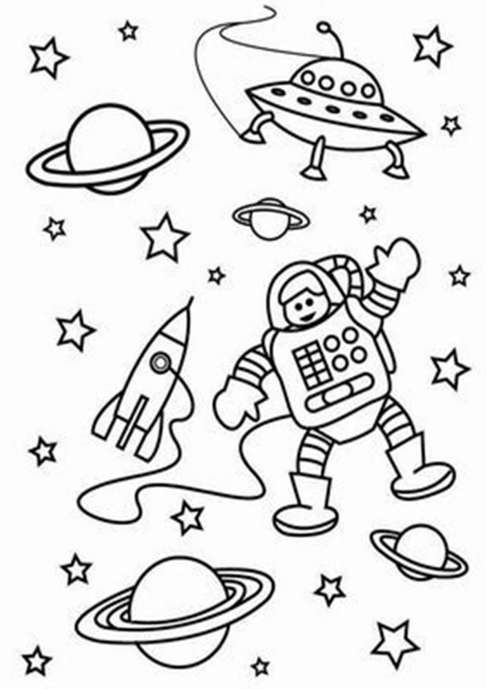 Free & Easy To Print Space Coloring Pages - Tulamama