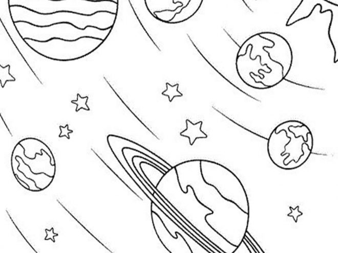 Fun Space coloring pages for your little one. They are free and easy to print. The collection is varied with different skill levels