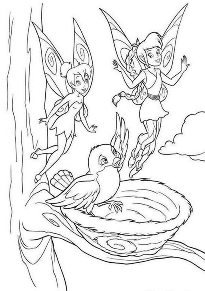 Fun Tinkerbell coloring pages for your little one. They are free and easy to print. The collection is varied with different skill levels