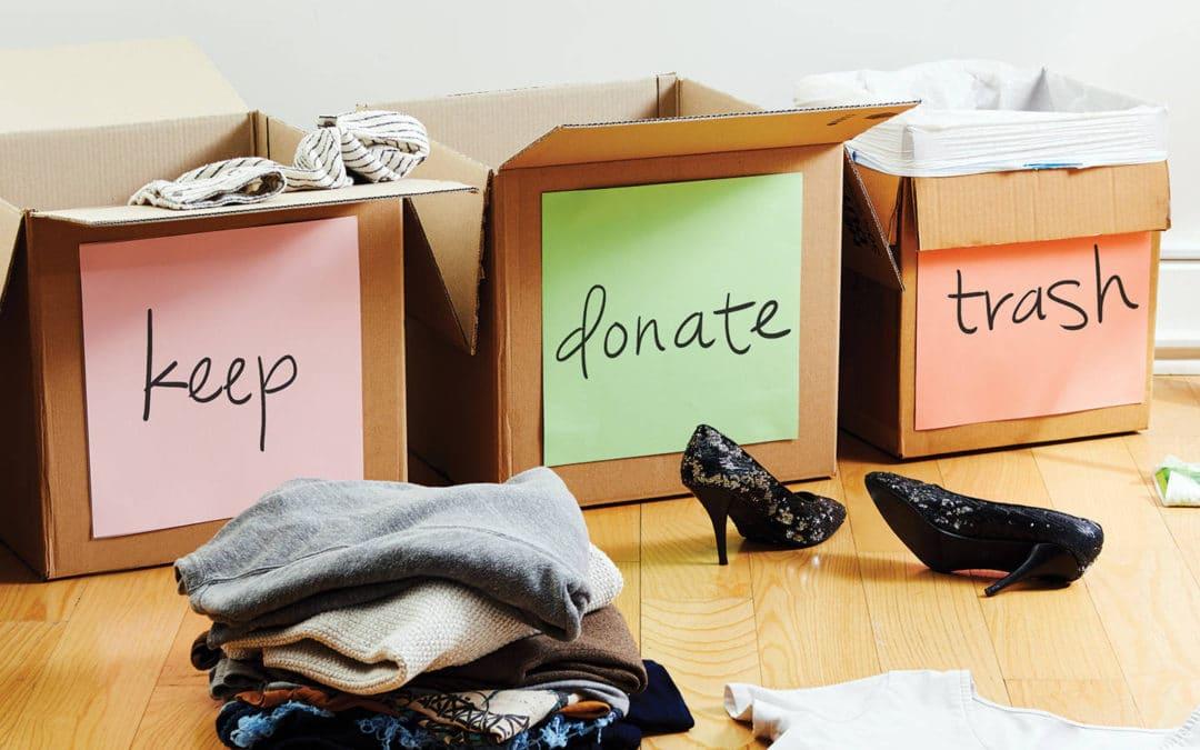 declutter keep donate trash mom hacks