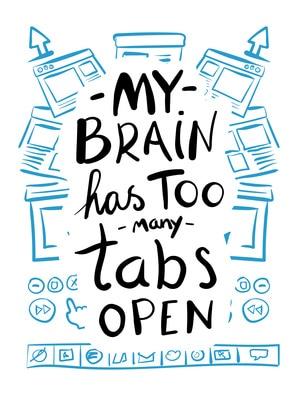 my brain has too many tabs open mom hacks