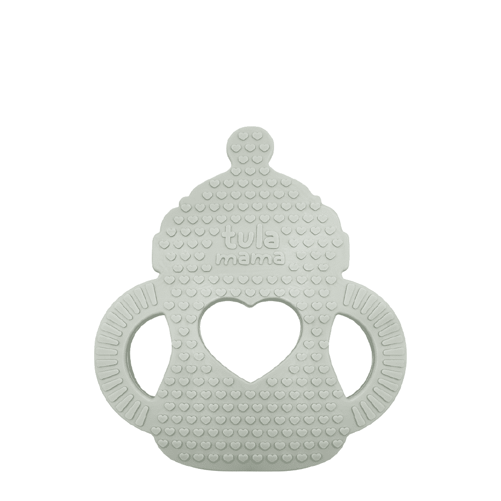 baby milk teether gray grey