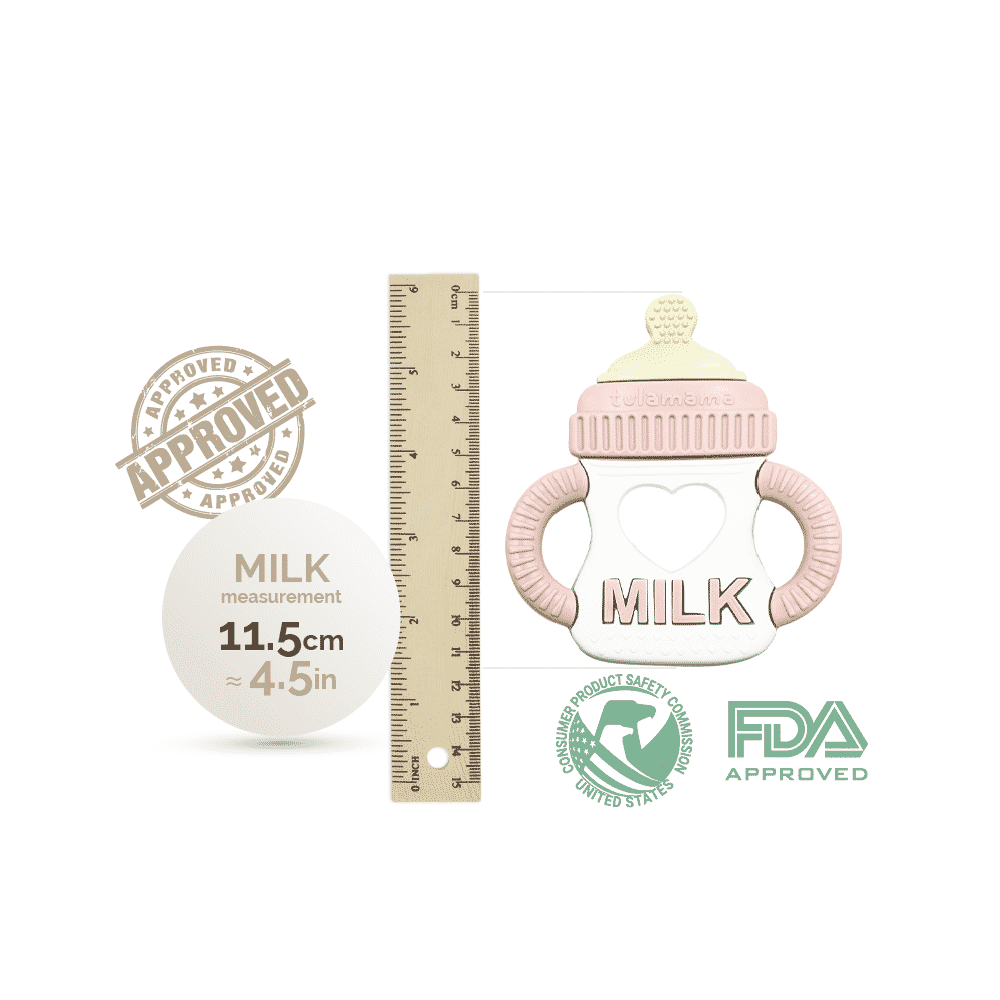 best baby milk teether size