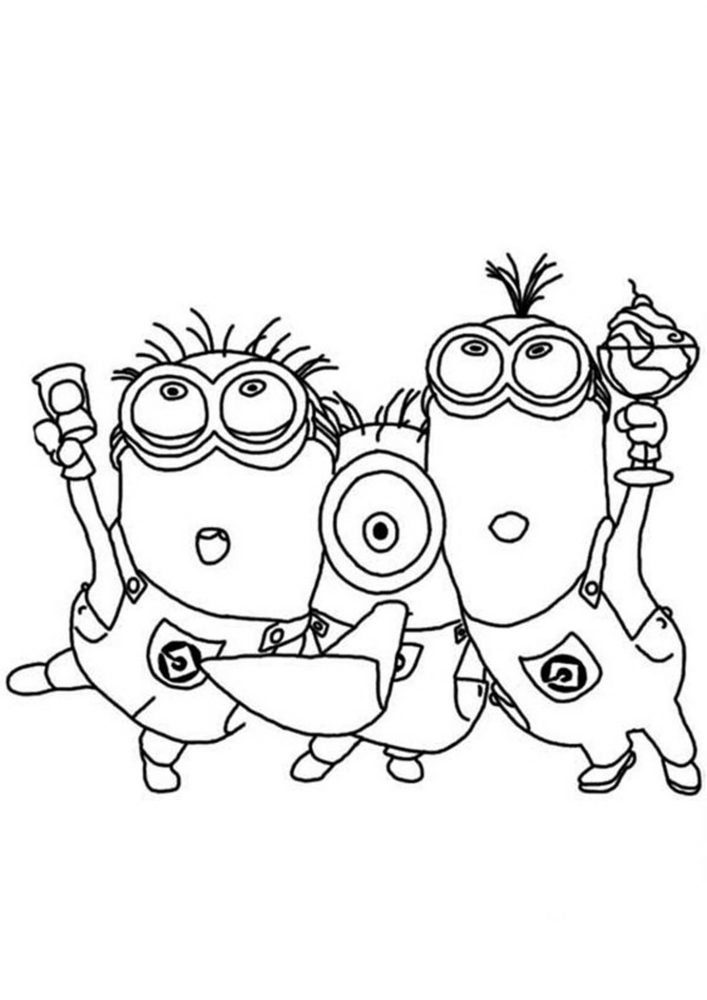 Free & Easy To Print Minions Coloring Pages - Tulamama