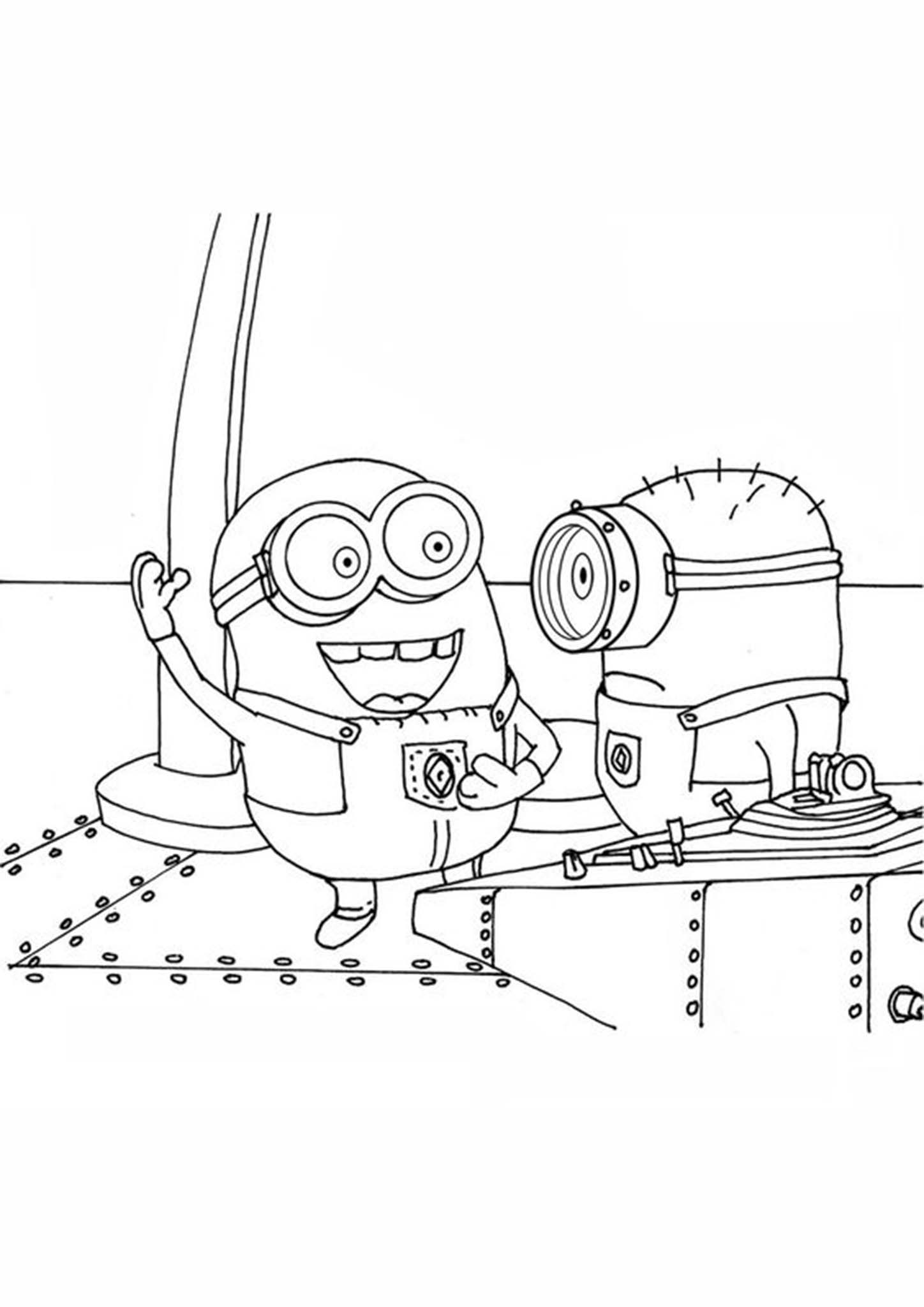 Fun Minions coloring pages for your little one. They are free and easy to print. The collection is varied with different skill levels