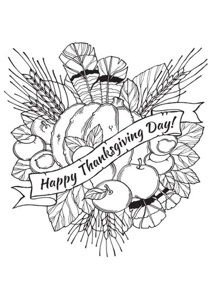 Free Printable Thanksgiving Coloring Pages - Tulamama