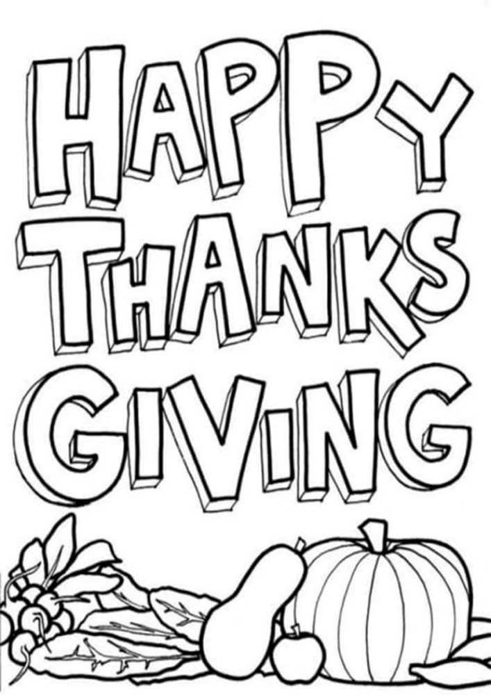 Fun Thanksgiving coloring pages for your little one. They are free and easy to print. The collection is varied with different skill levels