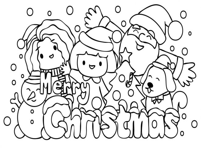 Fun Christmas coloring pages for your little one. They are free and easy to print. The collection is varied with different skill levels