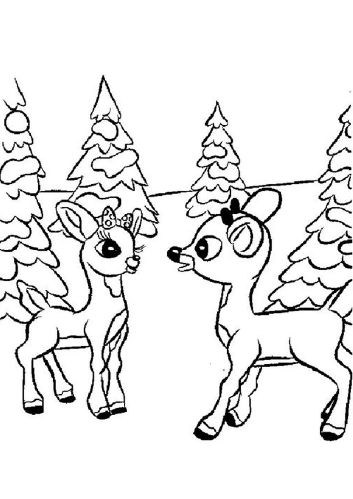 Fun Deer coloring pages for your little one. They are free and easy to print. The collection is varied with different skill levels