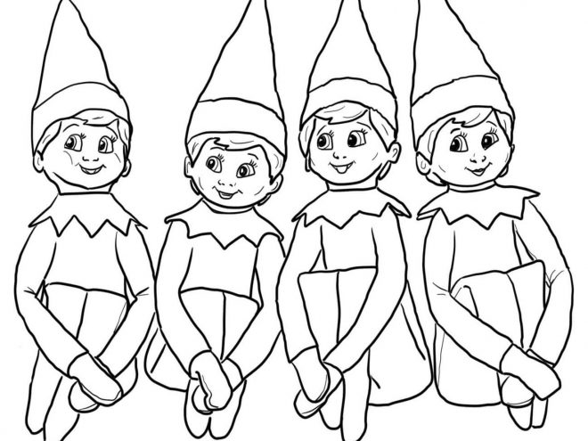 Free Printable Elf On The Shelf Coloring Pages Tulamama