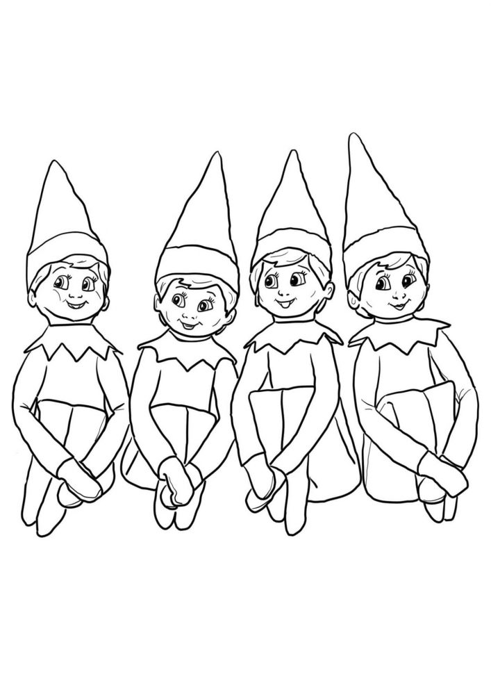 Free Printable Elf On The Shelf Coloring Pages - Tulamama