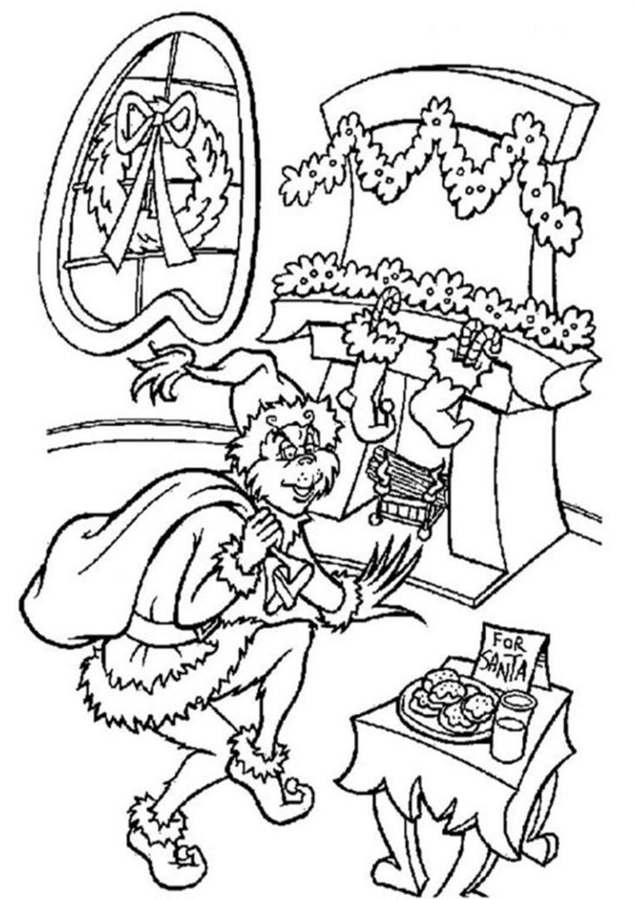 Fun The Grinch coloring pages for your little one. They are free and easy to print. The collection is varied with different skill levels