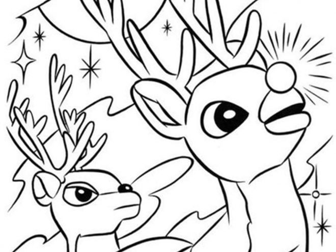 Rudolph The Red Nosed Reindeer Coloring Pages Tulamama