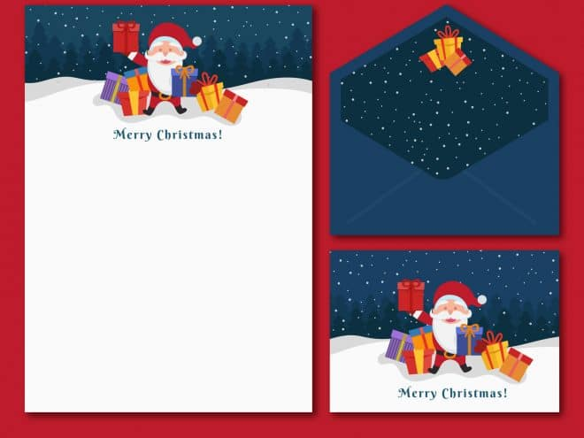 Santa letterhead and christmas stationery