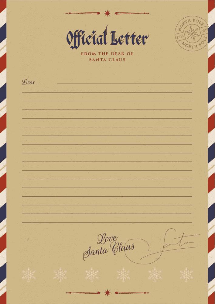 Santa letterhead free printable