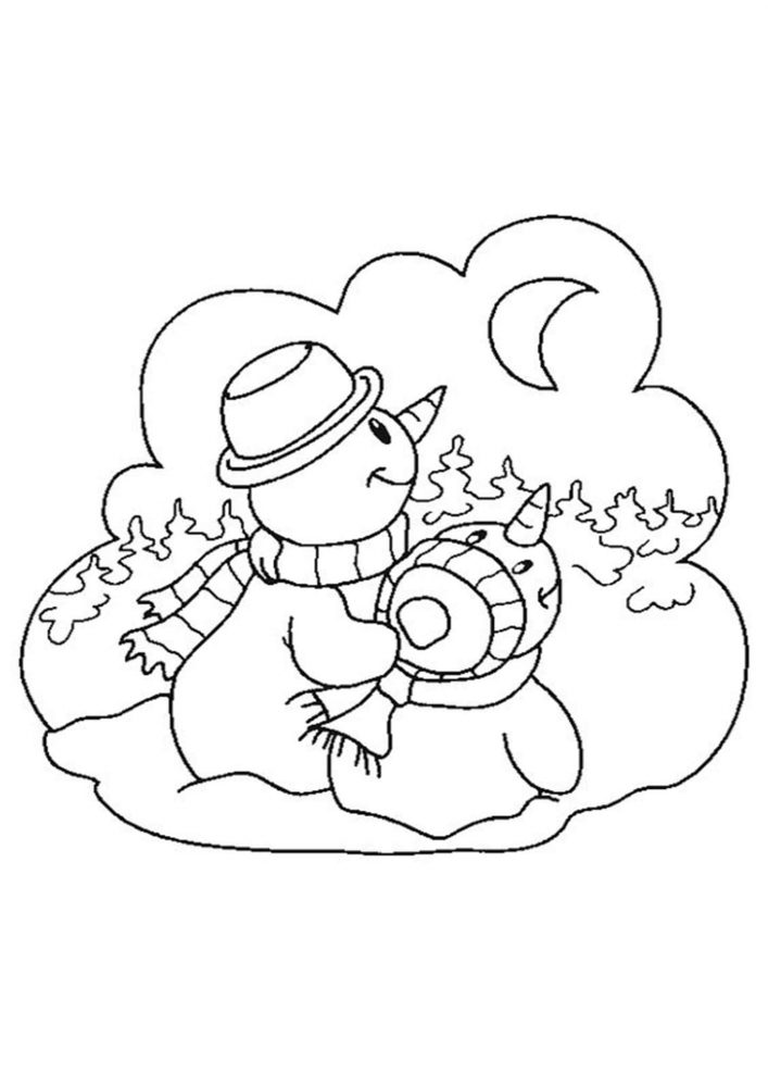 Fun Snowman coloring pages for your little one. They are free and easy to print. The collection is varied with different skill levels