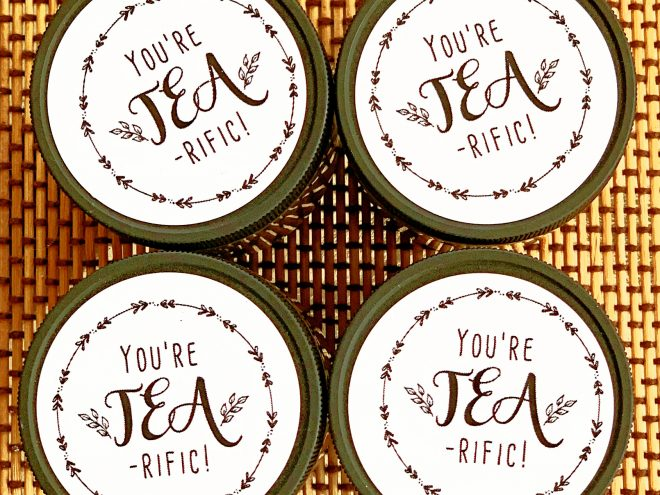 Free printable tea favors tearific favour stickers