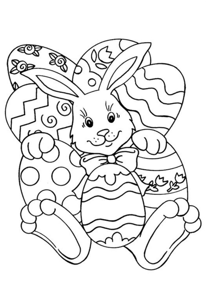 Fun Easter coloring pages for your little one. They are free and easy to print. The collection is varied with different skill levels