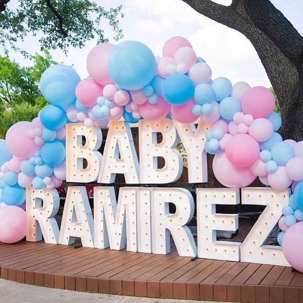 Outdoor baby shower decorations