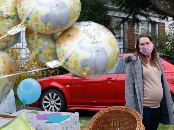 drive by baby shower covid
