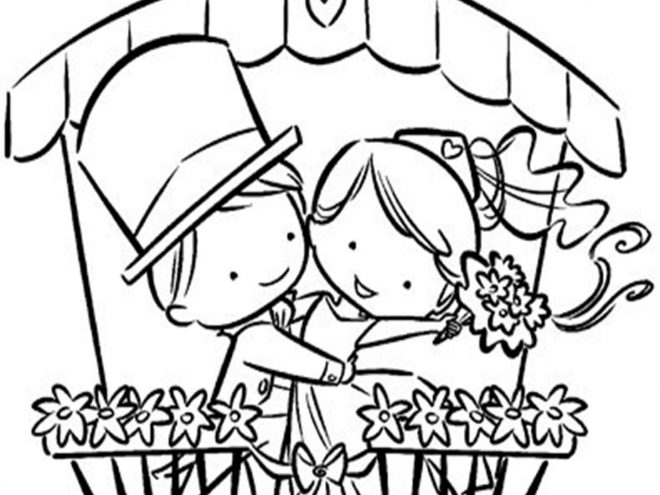 Free & Easy To Print Wedding Coloring Pages - Tulamama