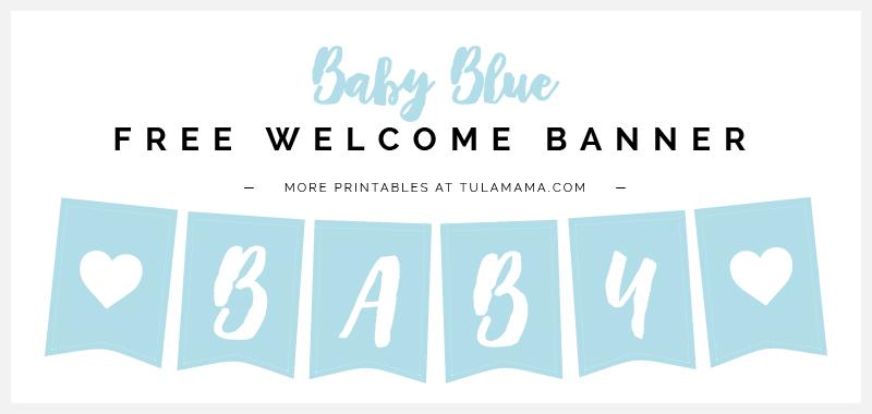 Free Printable Baby Shower Banner Ideas Tulamama